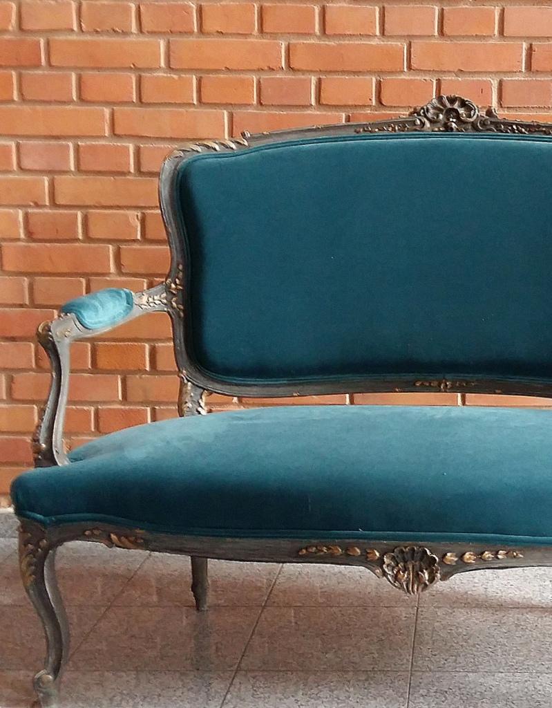 French Unique Louis Xv Sofa 19th C Atelier Emerald