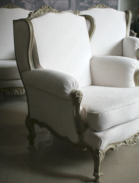 French Armchairs, Louis XV Style